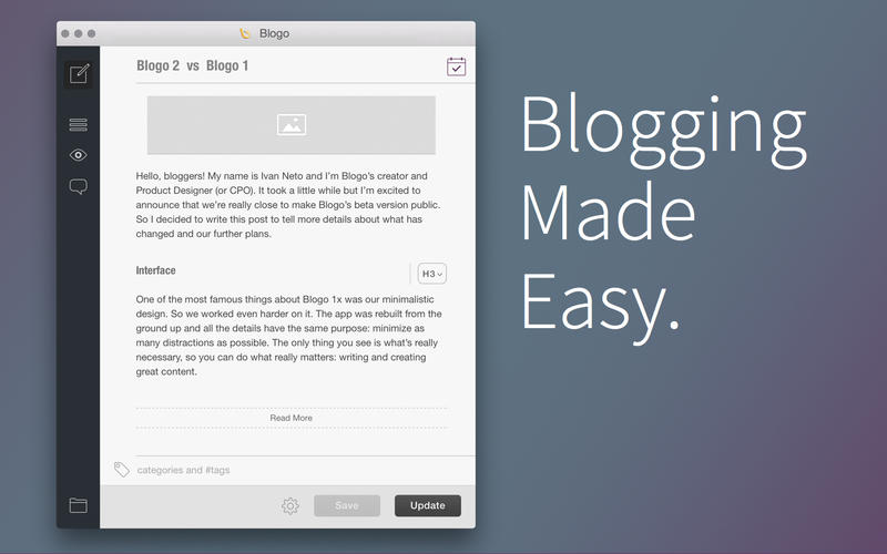Mac软件-Blogo:离线博客编写工具 for Mac 2.1 下载