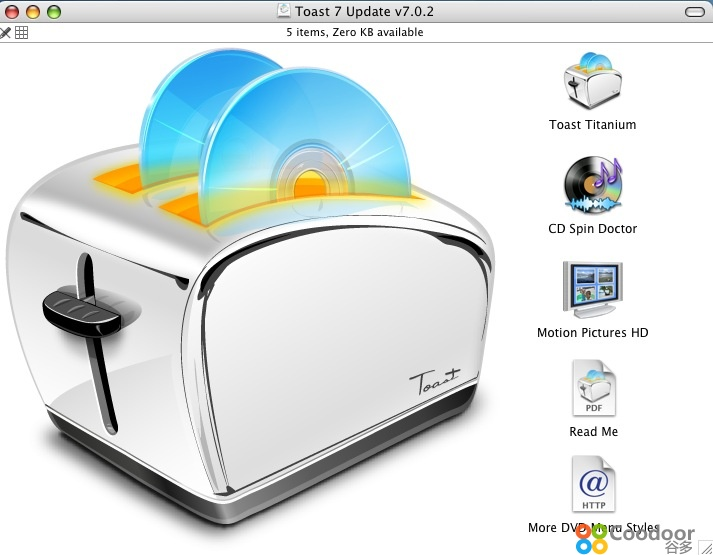 Mac软件-ToastTitanium(7.1.2)中文绿色版
