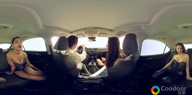VR全景视频-男人装拍摄香车美女4K高清视频