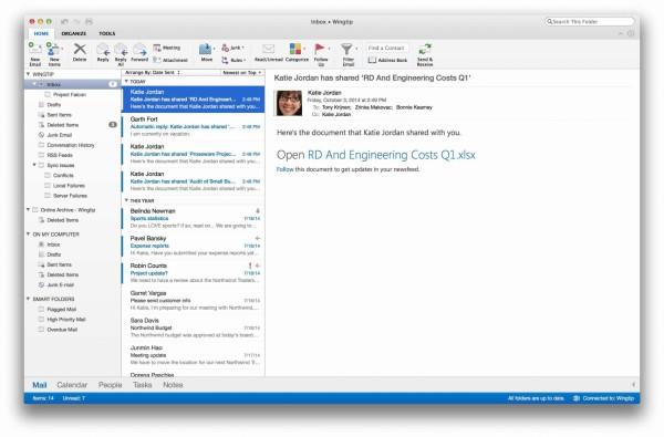 Mac软件- Microsoft Outlook 2015 for Mac 1.0 下载