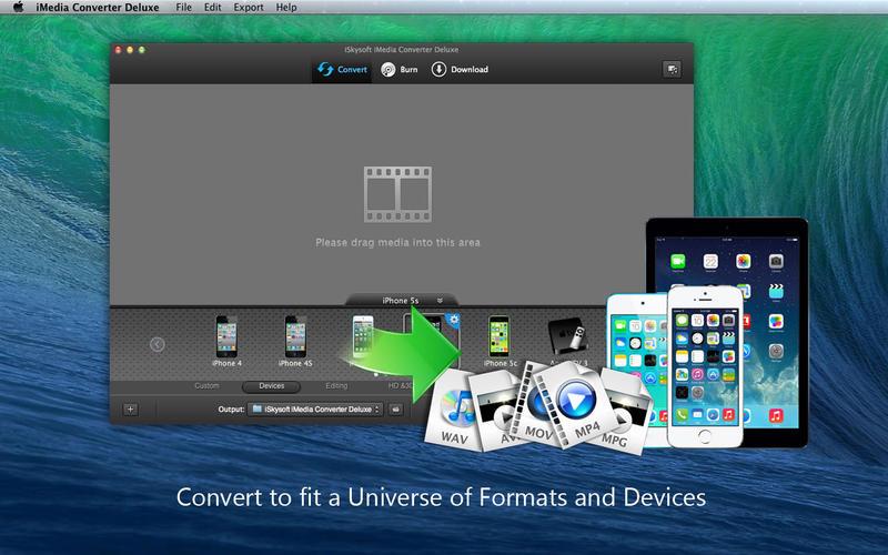 Mac软件-超强的Mac视频格式转换工具:iMedia Converter Deluxe for Mac 4.2.3下载