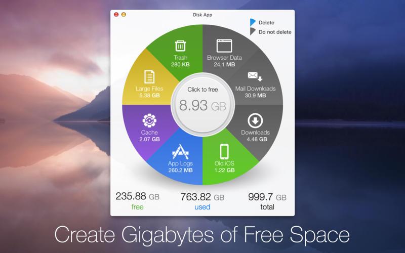 Mac软件-Disk App:优秀漂亮的系统清理工具 for Mac 1.2.2 下载