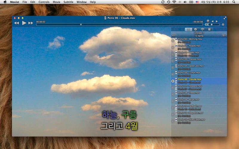 Mac软件-Movist 高清多格式媒体播放器 for Mac v1.3.7 下载