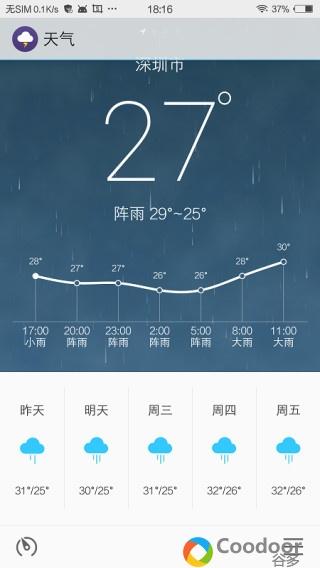 安卓软件-Flyme天气(1.7.0321)提取版