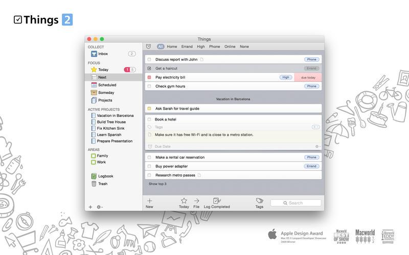 Mac软件-Things:任务管理日程管理工具 for Mac 2.5.1 下载